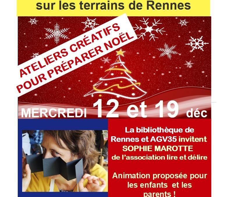 Animation de Noël sur les terrains de Rennes